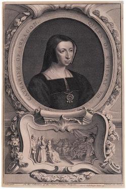 Portrait of Katherine of Aragon, after Arthur Pond by Jacobus Houbracken