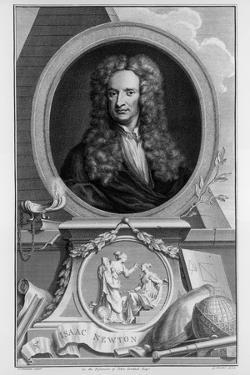 Sir Isaac Newton, English Scientist and Mathematician, C1700 by Jacobus Houbraken
