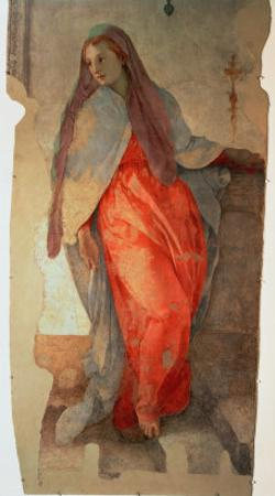The Annunciation, Detail of the Virgin, c.1527 by Jacopo da Carucci Pontormo