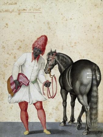 Moorish Knight and Horse by Jacopo Ligozzi