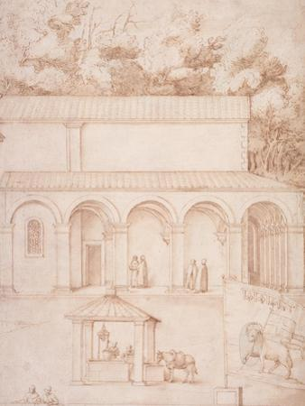 Pd.54-1997 View of the Monastery of La Verna by Jacopo Ligozzi