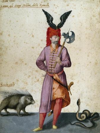 Soldier with Porcupine by Jacopo Ligozzi