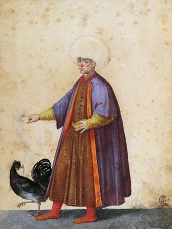 Turkish Man Wearing Turban by Jacopo Ligozzi
