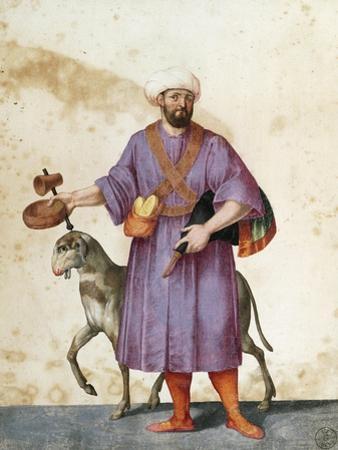 Turkish Shepherd with Sheep by Jacopo Ligozzi