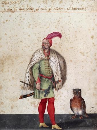 Turkish Soldier with Owl by Jacopo Ligozzi