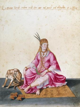 Turkish Woman with Dog, 1547-1627 by Jacopo Ligozzi