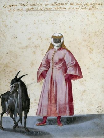 Turkish Woman with Goat by Jacopo Ligozzi