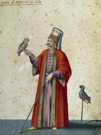Usher to Great Selim with Parrots by Jacopo Ligozzi