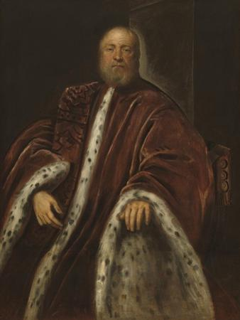 A Procurator of Saint Mark's, 1575-85 by Jacopo Robusti Tintoretto