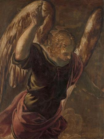 Angel from the Annunciation to the Virgin, 1560-85 by Jacopo Robusti Tintoretto