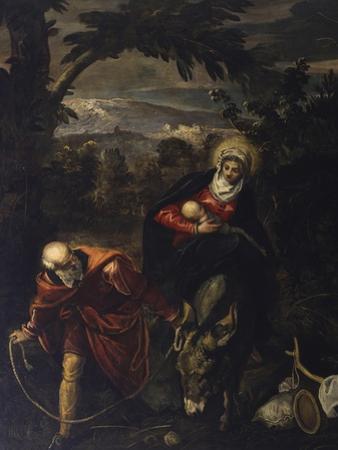 Flight into Egypt by Jacopo Robusti Tintoretto