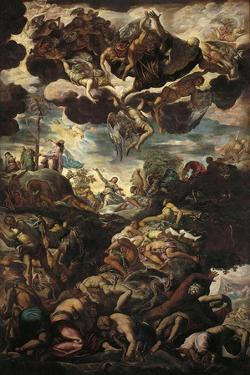 Moses with Bronze Serpent During the Plague of Snakes by Jacopo Robusti Tintoretto