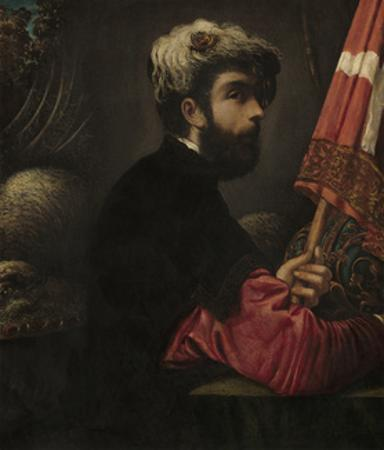 Portrait of a Man as Saint George, 1540-50 by Jacopo Robusti Tintoretto