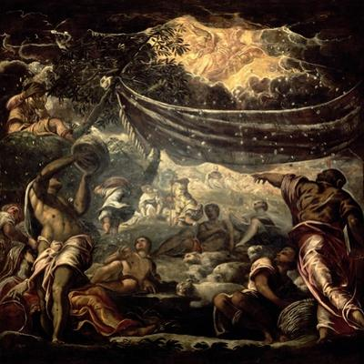 The Fall of Manna by Jacopo Robusti Tintoretto