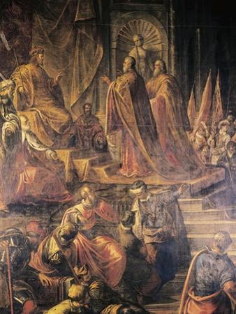Ambassadors of Pope and Venetians Pleading with Barbarossa for Peace in Vain by Jacopo Tintoretto
