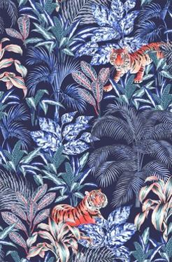 Sumatran Tiger, Blue by Jacqueline Colley