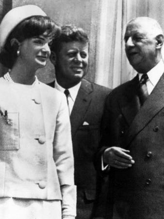 Jacqueline Kennedy, President John F. Kennedy and French President Charles De Gaulle, 1963