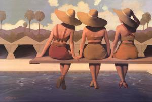 Poolside Chat by Jacqueline Osborn