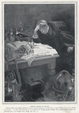 The Adventure of the Dancing Men Sherlock Holmes Studies the Case at His Desk by Jacques Camory