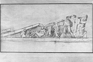 Study of the Frieze from a Pediment of the Parthenon by Jacques Carrey