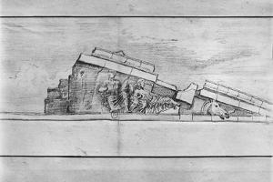 Study of the Frieze from the West Pediment of the Parthenon by Jacques Carrey