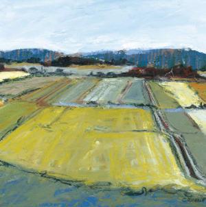 Pastel Landscape IX by Jacques Clement