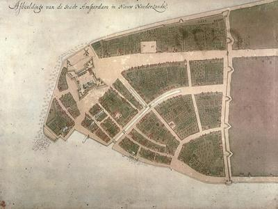 View of New Amsterdam, Costello Plan, 1660