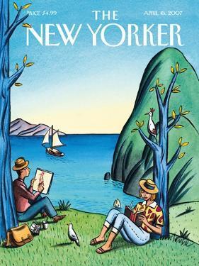 The New Yorker Cover - April 16, 2007 by Jacques de Loustal