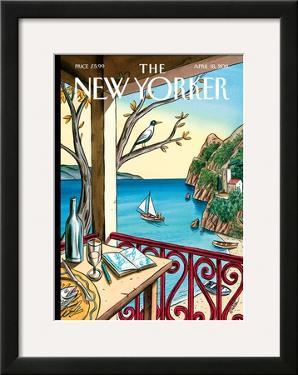 The New Yorker Cover - April 18, 2011 by Jacques de Loustal