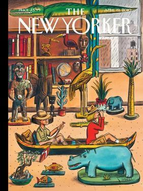 The New Yorker Cover - April 19, 2010 by Jacques de Loustal
