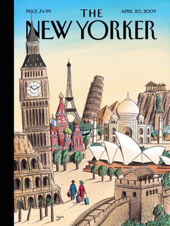 The New Yorker Cover - April 20, 2009 by Jacques de Loustal