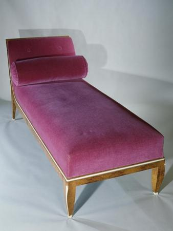 Art Deco Style Bed with Headrest, 1916