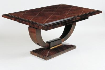 Art Deco Style Dining Room Table, Vuillerme Model, Ca 1925