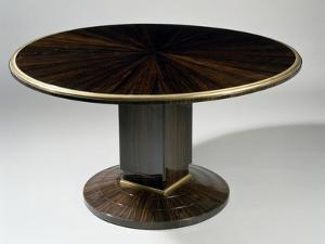 Art Deco-Style Gueridon Table, Ducharne Model, 1930 by Jacques-emile Ruhlmann