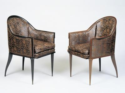 Pair of Art Deco Style Armchairs, Guinde Model