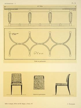Salle a Manger IV, Hotel de M. Berger, a Paris, Illustration from 'Interieurs' by Leon Moussinac,… by Jacques-emile Ruhlmann