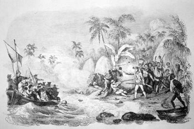 Death of Captain Cook, 1779 by Jacques Etienne Victor Arago