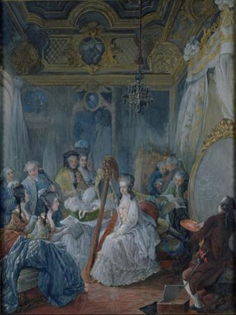 Marie Antoinette (1755-93) in Her Chamber at Versailles in 1777