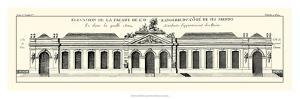 Crackled B and W Palace Facade III by Jacques-francois Blondel