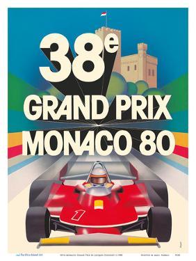 38th Monaco Grand Prix (Circuit de Monaco) - Formula One Race Cars - Racer Jody Scheckter by Jacques Grognet