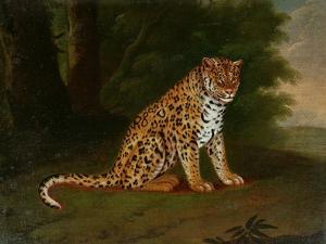 A Leopard in a Landscape by Jacques-Laurent Agasse
