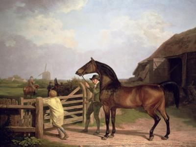 Bay Ascham', a Stallion Led Through a Gate to a Mare, 1804