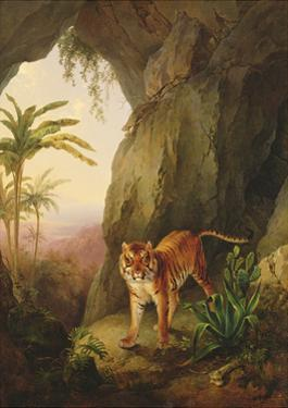 Tiger in a Cave, C.1814 by Jacques-Laurent Agasse