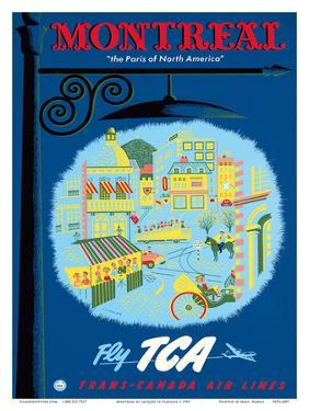 Montreal, Canada - The Paris of North America - Fly TCA (Trans-Canada Air Lines) by Jacques Le Flaguais
