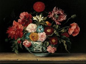 Chinese Cup with Flowers by Jacques Linard