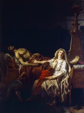 Andromache Mourning over Body of Hector by Jacques-Louis David
