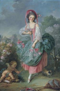 Ballerina Marie-Madeleine Guimard (1743-181) as Terpsichore by Jacques Louis David