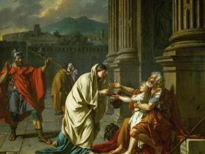 Belisarius Begging for Alms by Jacques-Louis David