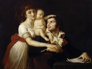 Camille Desmoulins with His Wife Lucile and Child by Jacques Louis David
