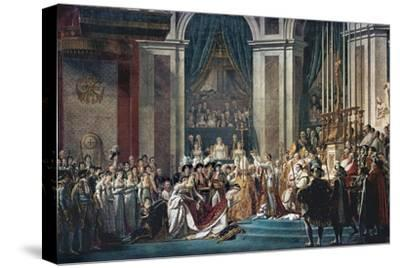Consecration of the Emperor Napoleon and the Coronation of the Empress Josephine by Pope Pius VII by Jacques-Louis David